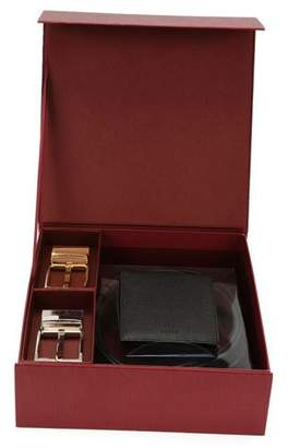 Bally Men's Wallet & Belt Gift Set