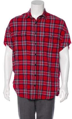 R 13 Plaid Sleeveless Shirt
