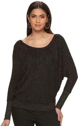 Women's Jennifer Lopez Metallic Dolman Sweater $58 thestylecure.com