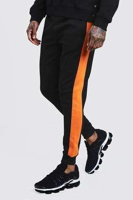BoohooMAN Skinny Fit Panelled Fleece Jogger