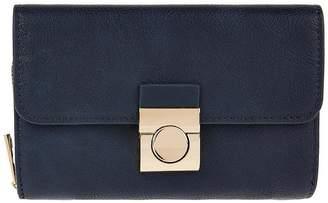 Accessorize Becky Push Lock Wallet - Navy