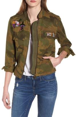 Zadig & Voltaire Kavys Embroidered Camo Jacket