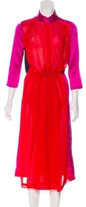 Preen Line Silk Colorblock Dress