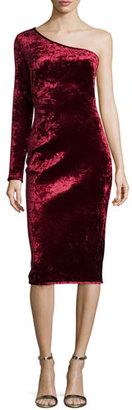 Black Halo One-Shoulder Velvet Cocktail Dress, Damsel $525 thestylecure.com