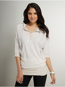 New York & Co. Love NY&C Collection - Hooded Striped Tunic