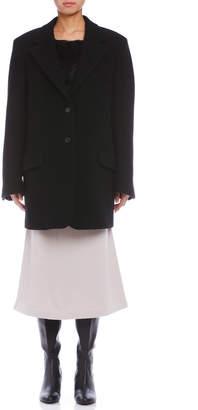 Jil Sander (ジル サンダー) - Jil Sander BOCCACCIO バックリボン ノッチドラペル コート ブラック 38