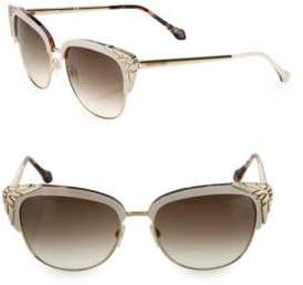 Roberto Cavalli 56MM Gradient Cat Eye Gradient Sunglasses