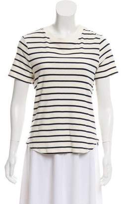 Veronica Beard Striped Short Sleeve Top