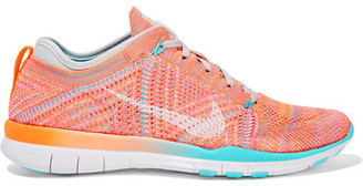 Nike - Free Tr 5 Flyknit Sneakers - Coral $130 thestylecure.com