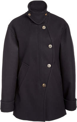 Cédric Charlier Asymmetric Wool-Blend Coat