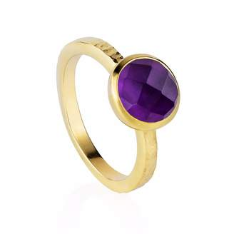 Neola - Estella Gold Stacking Ring With Purple Amethyst