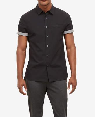 Kenneth Cole New York Kenneth Cole Men's Contrast Trim Shirt