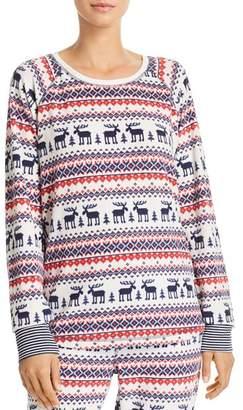 PJ Salvage Winter Escape Fairisle Thermal Fleece Long-Sleeve Top