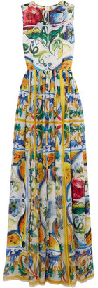 Dolce & Gabbana - Printed Silk Gown - Yellow $4,595 thestylecure.com