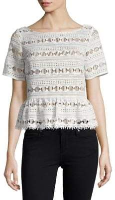 Tracy Reese Flounce Boatneck Top