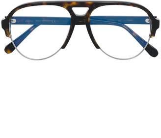 Brioni aviator shaped glasses