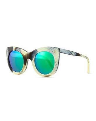 Illesteva Boca Cat-Eye Sunglasses, Horn $220 thestylecure.com