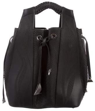 Nada Sawaya Python Leah Bucket Bag