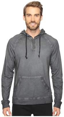Michael Stars Pullover Henley Hoodie Men's Sweatshirt