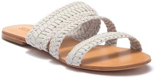Schutz Owen Woven Strap Slide Sandal