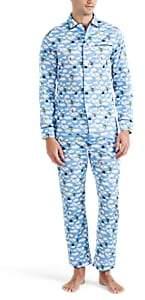 Maison Marcy Men's Magritte Cotton Poplin Slim Pajama Set - Lt. Blue