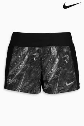 Next Womens Nike Black Printed Shorts