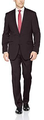 Kenneth Cole Reaction Men's Stretch Slim Fit Finished Bottom Suit