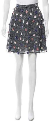 Marco De Vincenzo Embroidered Mini Skirt w/ Tags