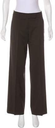 Rene Lezard Mid-Rise Wide-Leg Pants