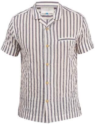 Solid & Striped Ripley short-sleeved stripe cotton shirt