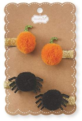 Mud Pie Halloween Set of 2 Pompom Hair Clips