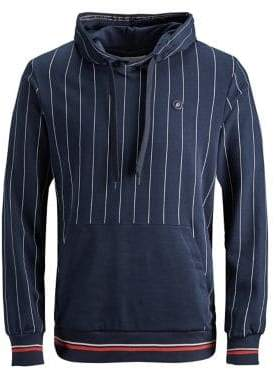 Jack and Jones Pinstripe-Print Cotton Hoodie
