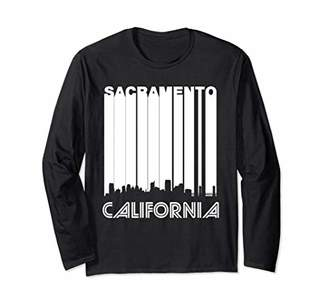Retro Sacramento California Skyline Long Sleeve T-Shirt