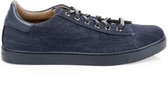 Gianvito Rossi Denim Low-Top Sneakers