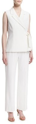 Albert Nipon Sleeveless Tie-Waist Pant Suit $375 thestylecure.com
