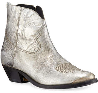 Golden Goose Young Metallic Western Booties