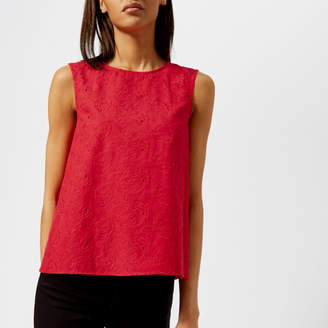 Armani Exchange Women's Broderie Anglaise Top