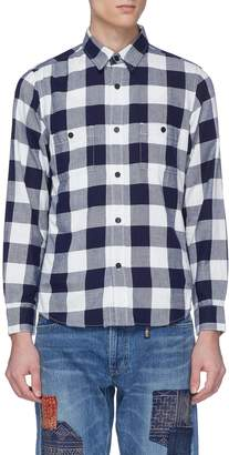 FDMTL CORDURA® mesh outseam gingham check shirt