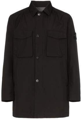 Stone Island single breasted front pocket trench coat