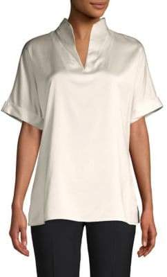 Calvin Klein Short-Sleeve Roll-Tab Blouse