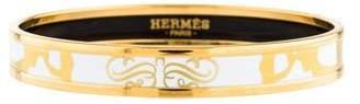 Hermes Brides de Gala Tattoo Narrow Enamel Bangle