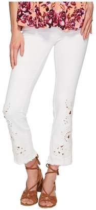 Free People Cutwork Cigarette Jeans - White Women's Jeans