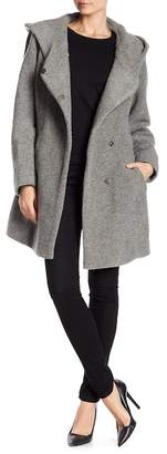 Andrew Marc Felted Wool Blend Coat