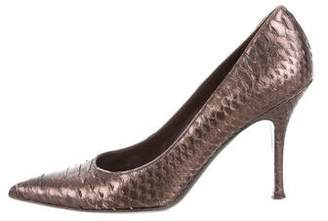 Devi Kroell Python Pointed-Toe Pumps