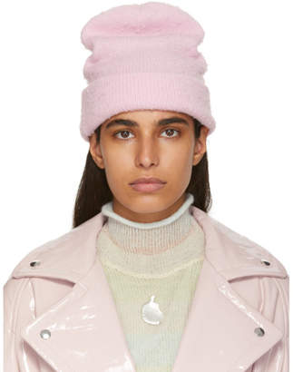 Acne Studios Pink Wool and Cashmere Beanie