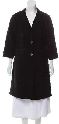 Rochas Wool Button-Up Coat