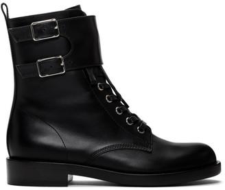 Gianvito Rossi Black Lagarde Military Boots
