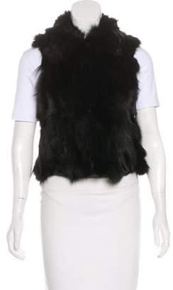 Adrienne Landau Collared Fur Vest