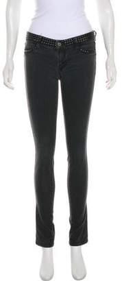 Genetic Los Angeles Embellished Mid-Rise Skinny Jeans