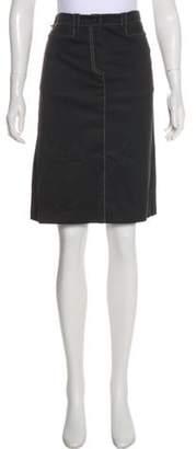Sonia Rykiel A-Line Knee-Length Skirt Black A-Line Knee-Length Skirt